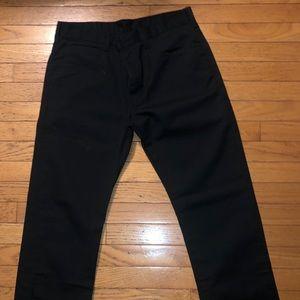 Mens 32x32 Black slim Dickies straight leg pants
